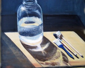 "Bottle With Brushes, 20"" x 24"""