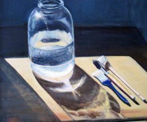 """Bottle With Brushes, 20"""" x 24"""""""